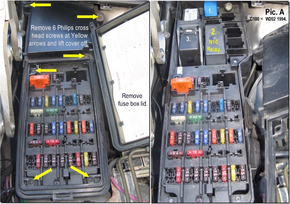 N101 95 c280 fuse box c280 racing \u2022 wiring diagrams j squared co 1995 mercedes e320 fuse box at mr168.co