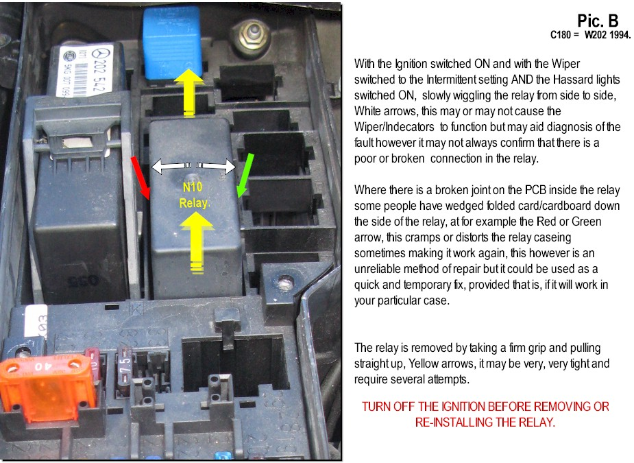 Mercedes C Class Wiper Relay Location