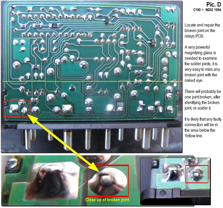 N10 Relay, Soldering Repair, Wiper - Indicators & Hazards - Rear