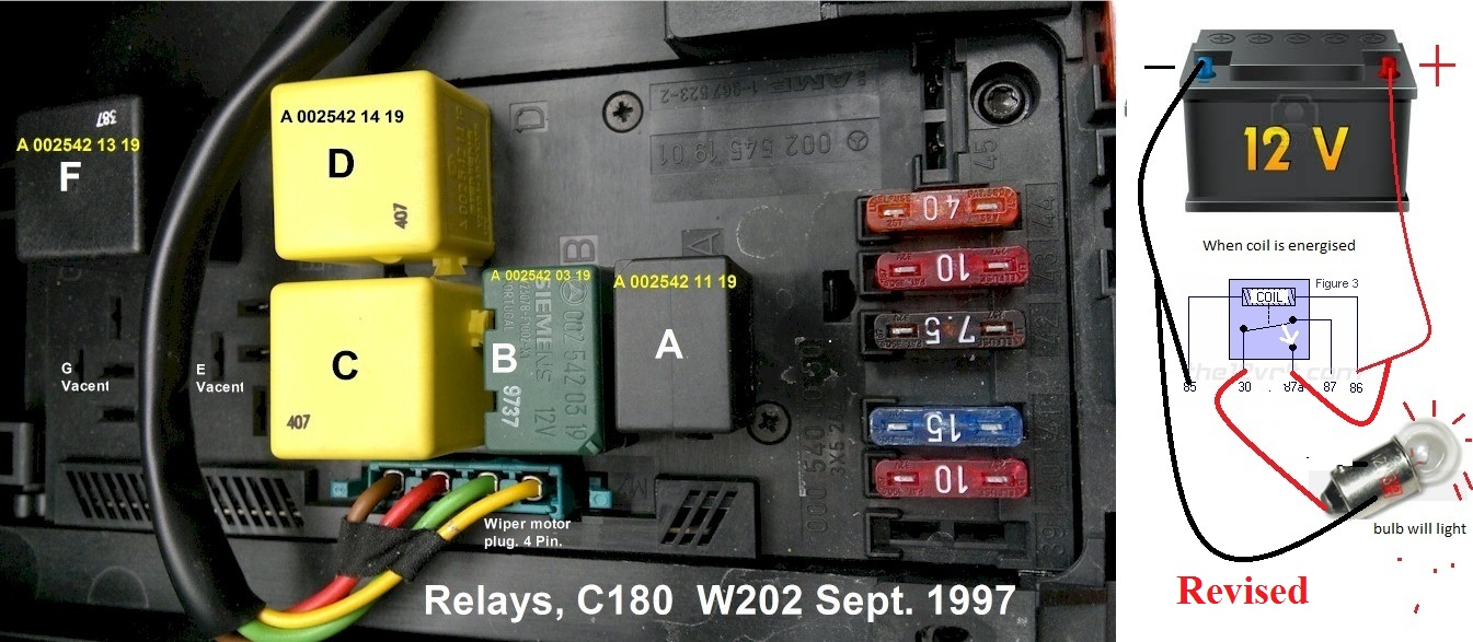 Mercedes C280 Fuse Box Diagram Auto Electrical Wiring 1999 Venture Transmission 98 W202 C180t Windshield Washer Problem