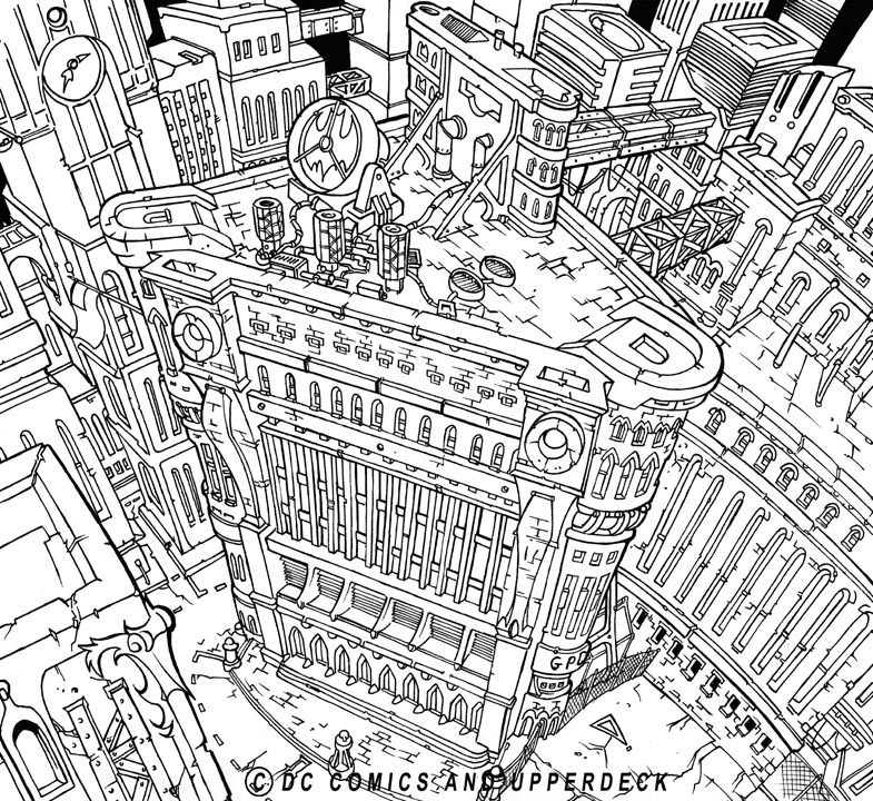 gotham city coloring pages - photo#28