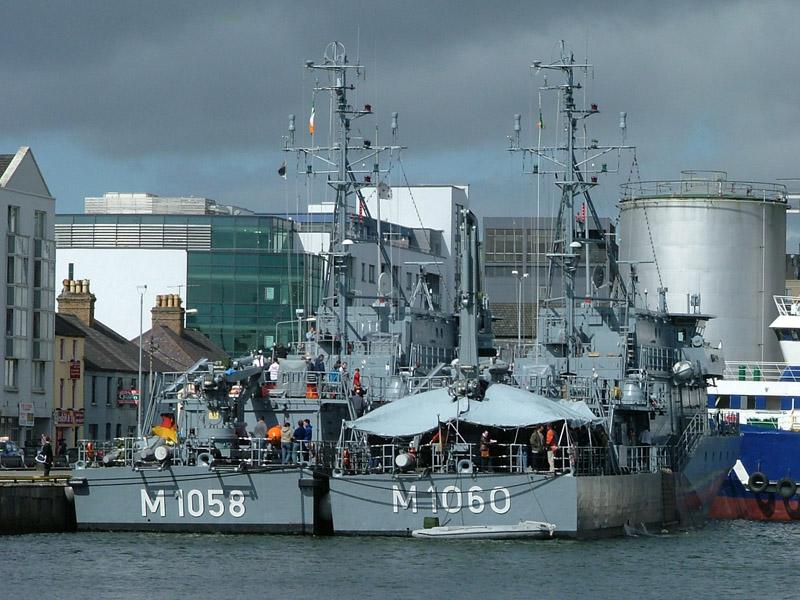 German Navy Minesweepers M1058 Fulda And