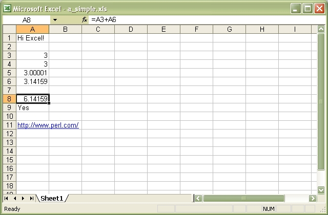 Spreadsheet::WriteExcel - Write to a cross-platform Excel binary ...