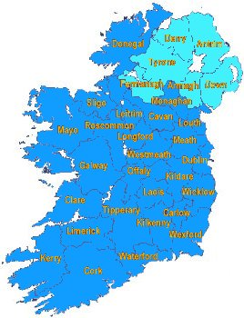 Map Of Youth Hostels In Ireland.The Definitive Travel Website Directory