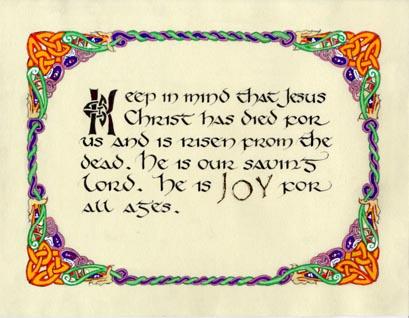 Dunleavy Design Celtic Calligraphy 2