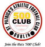 Join the Pats 500 Club! - pic: stpatsfc.com