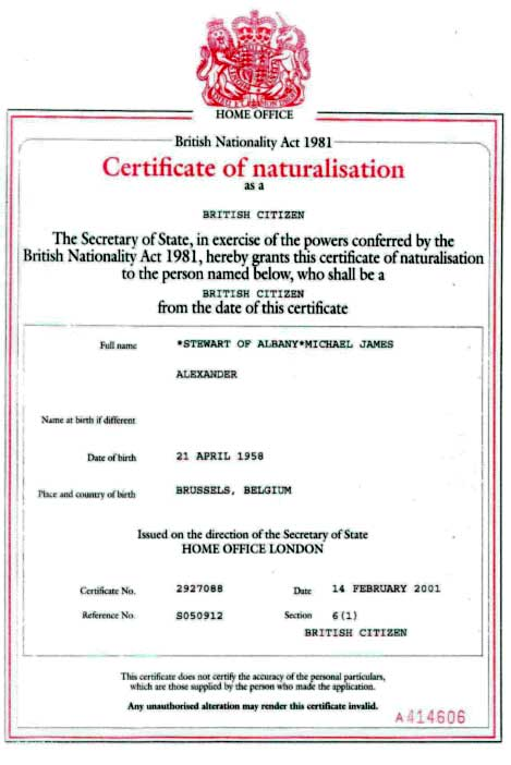 how to change your name on citizenship certificate