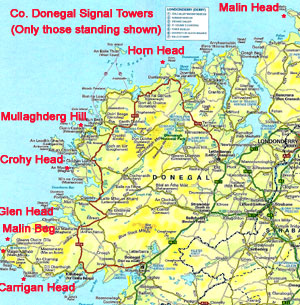 Map Arranmore Island Donegal
