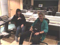 Kate and Michael Kamen at work - Abbey Road studios Oct 2003