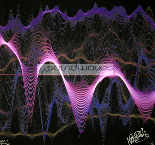 Tim Wakefield - Soundwaves print of the Kate Bush song Aerial - signed by the artist and Kate Bush
