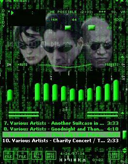 Webzonenow Music Winamp Matrix Skin